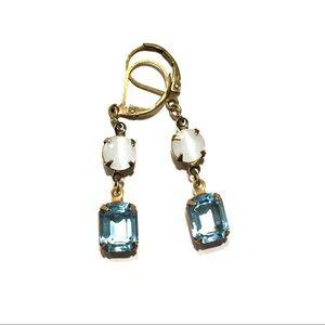 Swarovski Aquamarine crystal drops